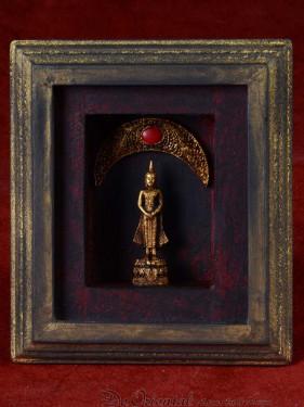 Decoratief 3D schilderijtje met zondag Boeddha