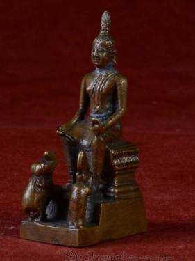 Boeddha miniatuur voor woensdag middag Boeddha brons