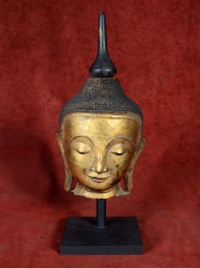 Boeddha hoofd vezel-gemengd deels verguld