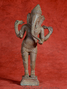 Staande Ganesha Khmer stijl brons