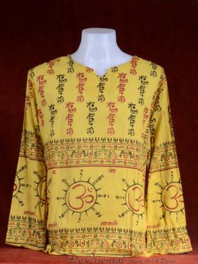 Alternatieve Hindoe blouse Indiase symbolen