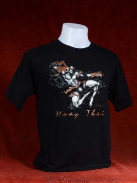 "Muay Thai T-Shirt ""Pra Ram Yeap Longkar"" zwart"