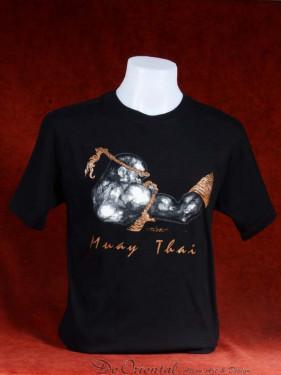 """Muay Thai T-Shirt """"Prapai Lom Singkorn"""" zwart"""