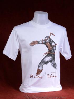 """Muay Thai T-Shirt """"Ka Jig Khai"""" wit"""