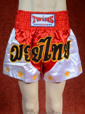 Originele Twins wedstrijd short Muay Thai Stars rood