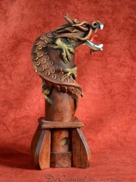 Wierookbrander met draak klein bruin