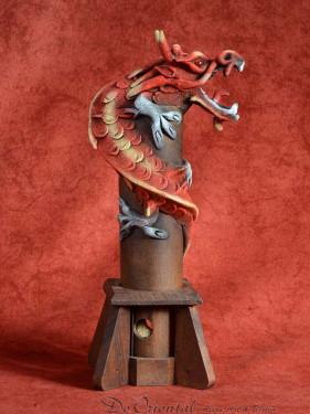 Wierookbrander met draak klein rood
