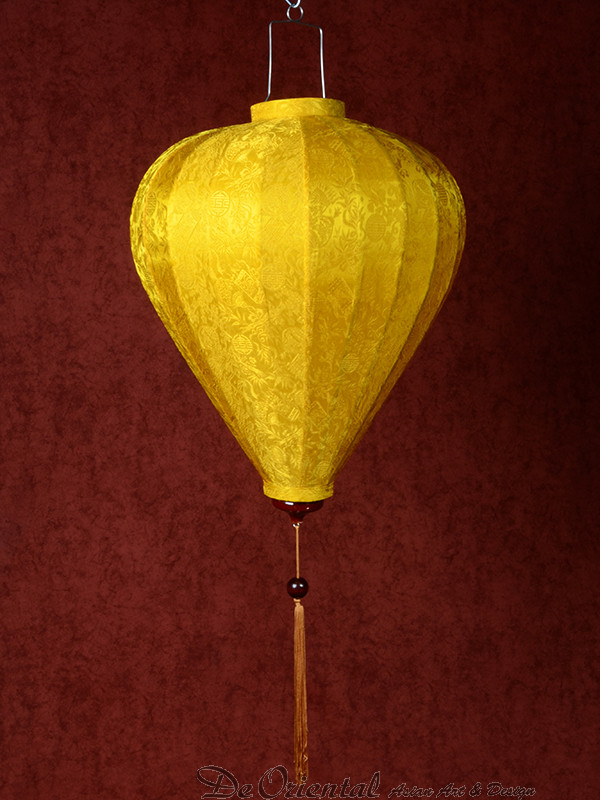 Chinese Lampion Lamp medium geel-goud | De Oriental
