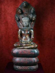 Khmer Boeddha met de Naga Mucalinda