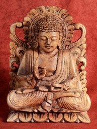 Op lotustroon gezeten Boeddha uit Indonesie