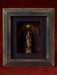 Decoratief 3D schilderijtje met maandag Boeddha