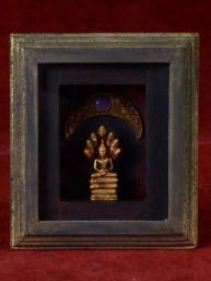 Decoratief 3D schilderijtje met zaterdag Boeddha