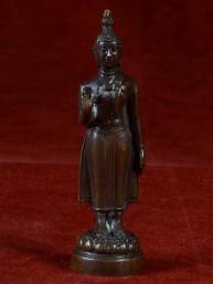 Boeddha miniatuur voor maandag Boeddha brons
