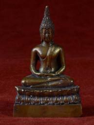Boeddha miniatuur voor donderdag Boeddha brons