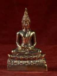Boeddha miniatuur voor donderdag Boeddha messing
