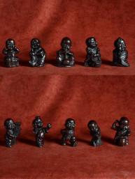 Set van 10 baby geluksboeddha's