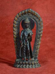 Zeldzaam bronzen Boeddha uit nepal