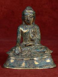 Boeddha Mandalay brons gelakt