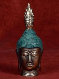 Bronzen hoofd van Boeddha bi-color