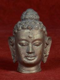 Hoofd van Boeddha brons