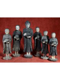 Boeddha met vijf volgelingen Arakan stijl