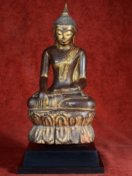 Shan Boeddha hout lakwerk Collectors item.