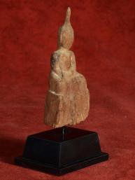 Klassiek houten Boeddha beeldje uit Laos