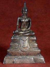 Verzilverd beeldje van Thaise Boeddha