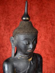 Groot unieke Shan Boeddha vezel-gemengd lakwerk