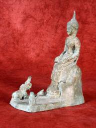 Woensdag middag Boeddha in Bhadrasana brons