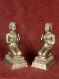 Set van monniken - adoranten brons