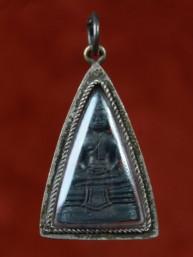 Phra Sothorn amulet met Boeddha brons