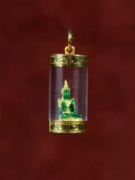 Emerald Boeddha in koker 18K goud