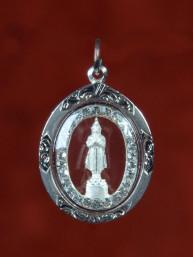 Vrijdag Boeddha amulet zilver
