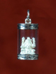 Ganesha amulet in zilveren koker