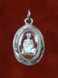 Phra Luang Phor Toh amulet in zilver