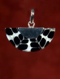 Hanger schelp in zilver gevat