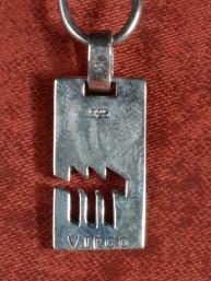 Zilveren hanger met dierenriemteken van Maagd