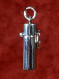 Zilveren relikwiehouder of pillendoosje met sluiting 10 mm