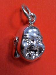 Happy Boeddha hanger 925 sterling zilver klein