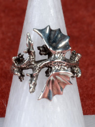 Gedetailleerde ring met twee draken 925