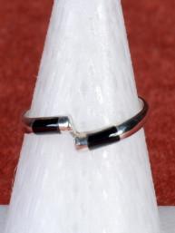 Exclusieve ring met onyx steen 925