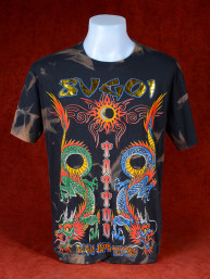 T-Shirt Sugoi Japan Tattoo met twee Chinese draken zwart