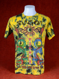 T-Shirt Sugoi Japan Tattoo met twee Chinese draken geel