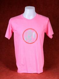T-Shirt met afbeelding van Ganesha en Om - donker roze