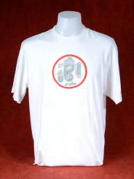 T-Shirt met afbeelding van Ganesha en Om - wit