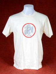 T-Shirt met afbeelding van Ganesha en Om - Creme