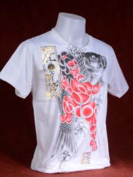 T-shirt met Yakuza print van Japanse Koi met Sumo wit.