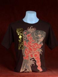 T-shirt met Yakuza print van Japanse Koi met Sumo bruin