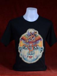 T-shirt met hoofd van Boeddha in Nirvana